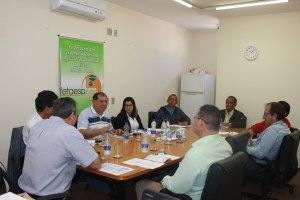 Representantes sindicais se reúnem para debater questões do setor (Foto: Gleice Bernardini/Fetaesp)