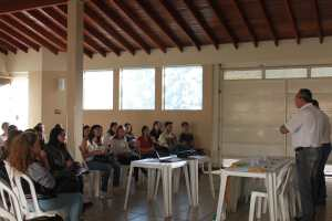 Diretoria da Fetaesp discursa sobre atuação no estado e junto aos sindicatos (Foto: Gleice Bernardini/Fetaesp)