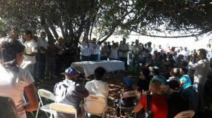 Cerimônia de assinatura da criação do Assentamento Dom Paulo Evaristo Arns (Foto: Itesp/Facebook)